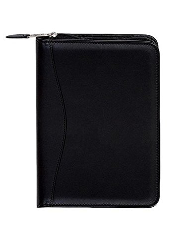 Scully Plonge Leather Zip Weekly Planner (Black) - Scully Leather Zip Weekly Planner
