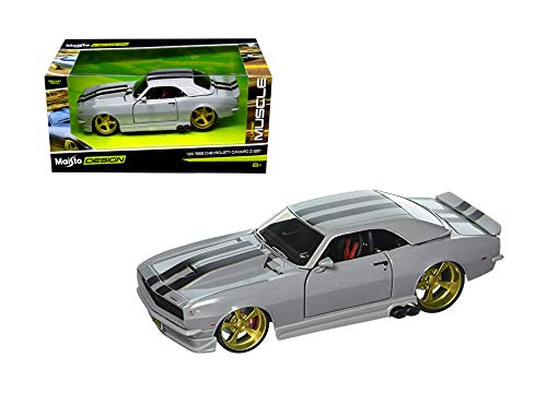 1:24 Window Box Classic Muscle - 1968 Chevrolet Camaro Z/28 with Black Stripes 32508SIL by MAISTO