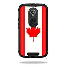 Mightyskins Protective Vinyl Skin Decal Cover for OtterBox Defender Moto X (2nd Gen 2014) Case cover wrap sticker skins Canadian Flag