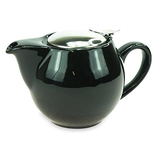 ExtraMaritim Tetera de porcelana Saara negra con filtro de 0,5 l