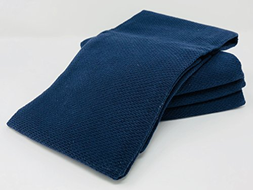 Williams Sonoma All Purpose Pantry Towels, Kitchen Towels, Set of 4, Navy Blue, 100% Cotton from Williams-Sonoma