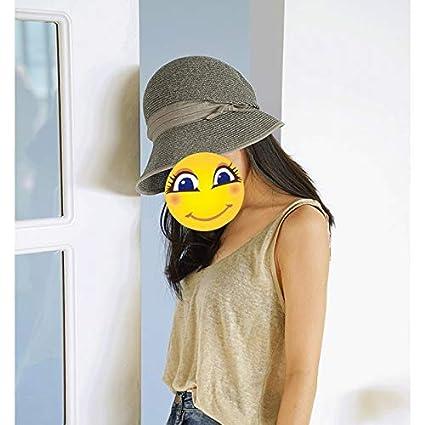 color : Khaki Female Summer Visor Fisherman Hat Out Shopping Retro Sun Hat Foldable Comfortable Breathable