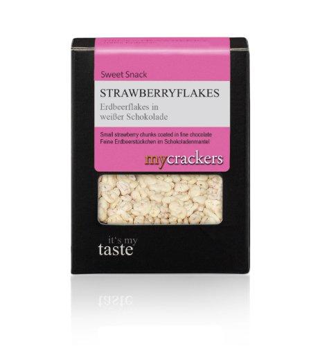 CrackersCompany Erdbeerflakes in weier Schokolade, 4er Pack (4 x 80 g)