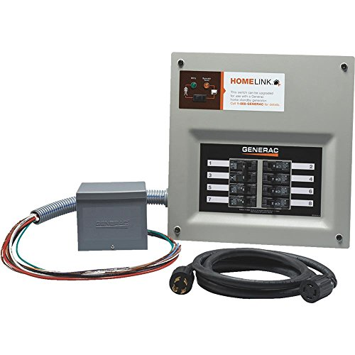 Generac Transfer Switches (Generac 6853 Home Link Upgradeable 30 Amp Transfer Switch Kit with 10' Cord and Resin Power Inlet Box)