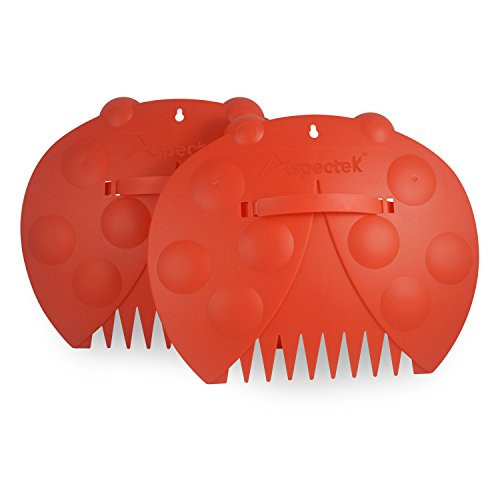 GardenHOME Lady Bug Shaped Large Garden and Yard Leaf Scoops/Hand Rakes. Multiuse, Leaves and Garbage Trash Pick-Up (1 Pair = 2 Leaf Scoops)