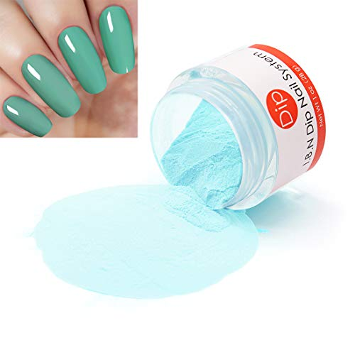 Light Green Dipping Powder Color 1 Ounce (Added Vitamins) I.B.N Dipped Acrylic Dip Powder DIY Manicure Salon Home Use, No UV LED Lamp Required (DIP 014)