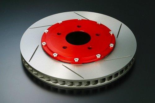 【J'SRACING】 S2000 6-POTキャリパーキット専用 交換用ブレーキローター ベル付 左用 ブレーキパーツ   B00EL1XVGY