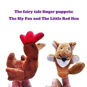 2pcs el astuto zorro y la pequeña historia gallina roja marionetas de dedo de peluche niños hablan prop: Amazon.es: Deportes y aire libre