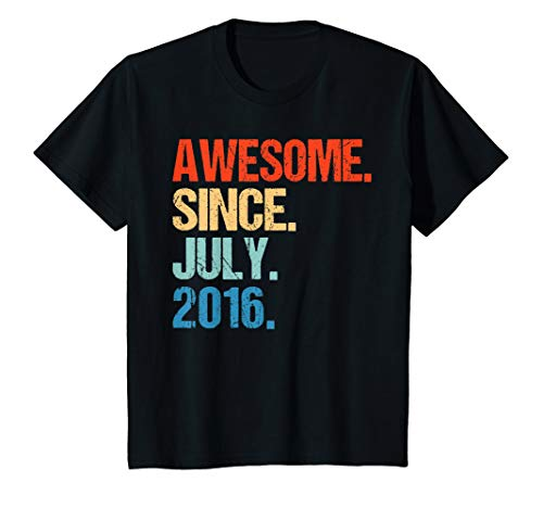 - Kids Awesome Since July 2016 3rd Birthday Gift 3 Yrs Old Shirt