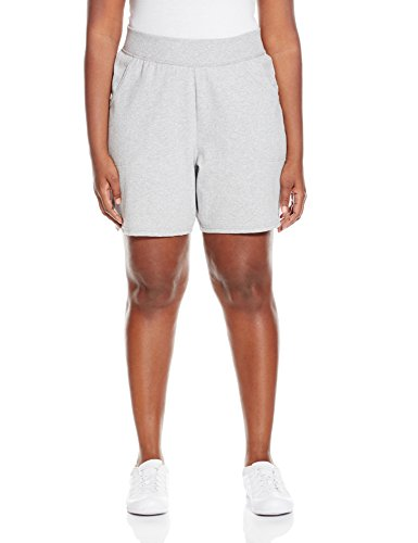 Just My Size Women's Plus Jersey Short,Light Steel,2X