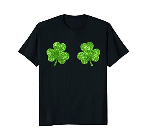 Irish Shamrock Boobs T-shirt St. Paddy's Day Women's Top ()