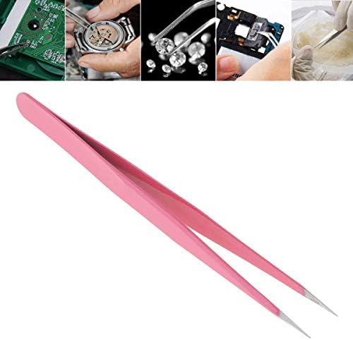 China 1個 ステンレス スチール ピンセット 135 mm 帯電防止 ストレート チップ ピンセット 精密 はんだ付け 電子 ピンセット ツール
