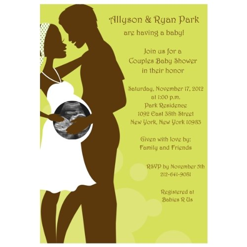 Happily Expecting Couple Sonogram Baby Shower Invitations - Set of 20
