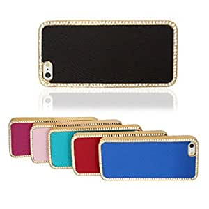 Pearl Leather Case for iPhone 5/5S(Assorted Color) --- COLOR:Blue