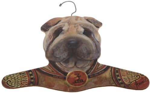 The Stupell Home Decor Collection Sharpei Wearing Samurai Jacket Hanger by The Stupell Home Decor Collection