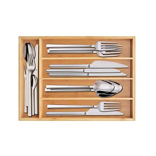 Keyfun Organizers 5-Slot Bamboo Cutlery Drawer Organizer by Keyfun (Image #8)