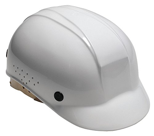 North White High Density Polyethylene Cap Style Bump Cap - 4-Point Suspension - Pin Lock Adjustment - Air Vents - BC86010000 PRICE is per EACH