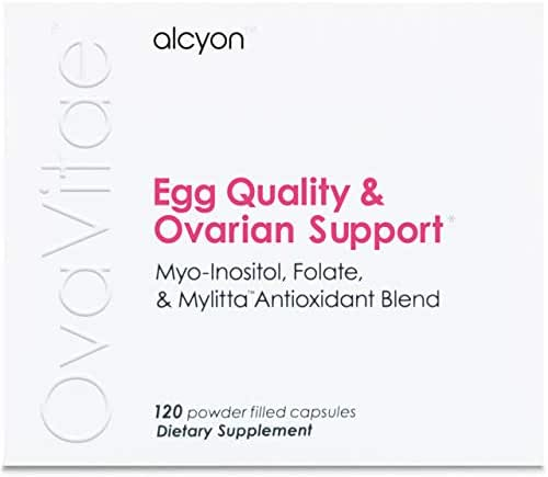 OvaVitae Fertility Supplement: Pure Myo-Inositol and Natural Folate to Improve Egg Quality, Support Ovulation and Regulate Cycles - Conceive Naturally (120 vegetarian capsules - pills)