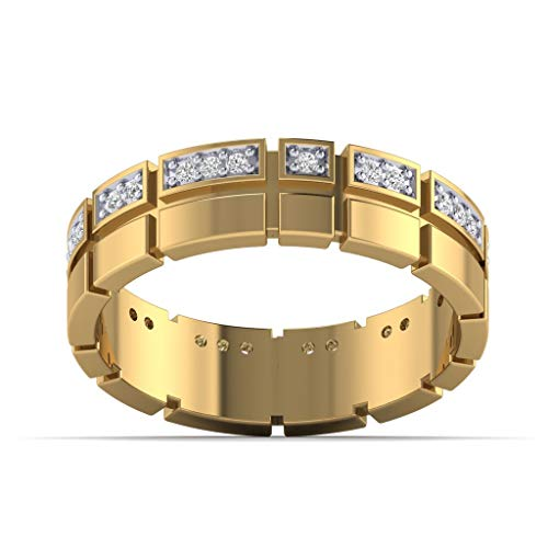 Fehu Jewel Natural Diamond ring Collection in 10k White Rose Yellow Gold for Men