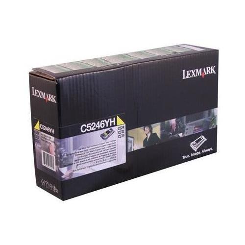 Lexmark C5246YH OEM Toner - Government C524 C532 C534 High Yield Yellow Return Program Toner (5000 Yield) (TAA Compliant version of C5240YH) - Lexmark C5246YH ()