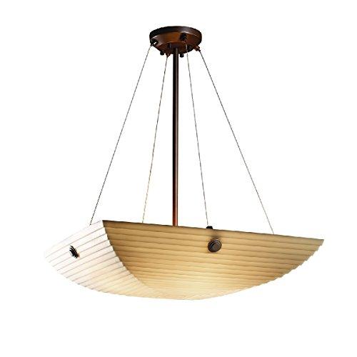 Justice Design Group Lighting PNA-9662-25-SAWT-DBRZ-F6-LED5-5000 Porcelina-Finials 27