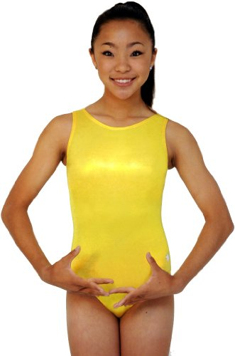 Snowflake Designs Yellow Mystique Leotard (Adult Small)