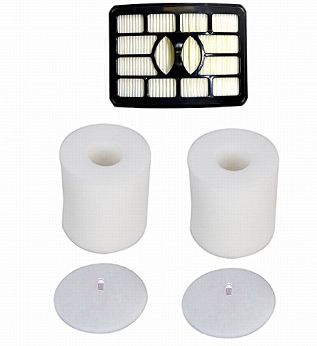 Smartide kit for Shark Rotator Pro Lift-away Nv500 Hepa Filter & Foam Filter (Containing 2 Foam Filter and 1 Hepa Filter), Compare to Part # Xff500 Xhf500 (Not fit Rotator NV650 & NV750 series)