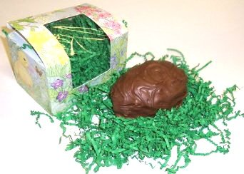 Scott's Cakes 1/2 Pound Peanut Butter Cream Center Filled Easter Egg Covered in Milk Chocolate - Green Chocolate Covered Gift Box