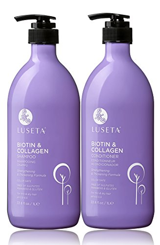 Cheap Luseta Biotin & Collagen Shampoo & Conditioner Set 2 x 33.8oz – Thickening for Hair Loss & Fast Hair Growth – Infused with Argan Oil to Repair Damaged Dry Hair – Sulfate Free Paraben Free