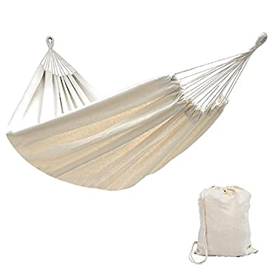 Lazy Daze Hammocks Brazilian Double Hammock Portable Canvas Hammock with Carry Bag, Two Person Bed for Backyard, Porch… -  - patio-furniture, patio, hammocks - 41ys 6gNupL. SS400  -