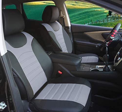 Blue Black Modern Look Pair Front Car Seat Covers for Ford Fiesta 14-On