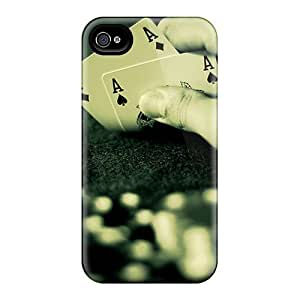 Snap-on Aces Case Cover Skin Compatible With Iphone 4/4s by icecream design