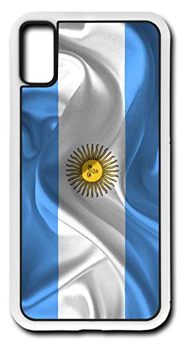 Farmers Bank National - iPhone X Case Argentina Flag National Celeste Bank Customizable by TYD Designs in White Rubber