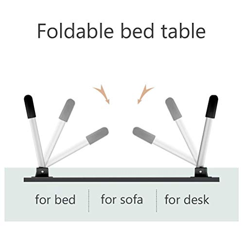 Sorfity Adjustable Folding Dormitory Lap Desk Portable Bed Laptop Table for Couch and Sofa, Breakfast Tray, Notebook Stand Reading Holder (23.6 x 15.7 inches)