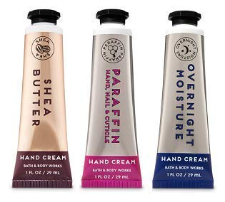 Bath and Body Works 3 Pack Signature Collection Shea Butter, Paraffin & Overnight Moisture Hand Cream 1 Oz.