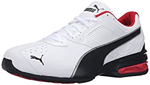 PUMA Men's Tazon 6 FM Puma White/ Puma Black/ Puma Silver Running Shoe - 9.5 2E US