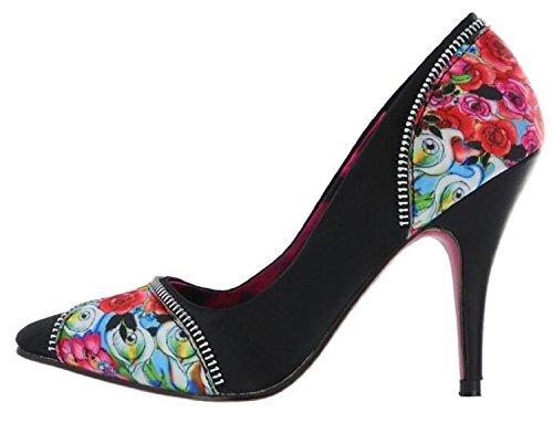 Puño De Hierro Hellz Angelz Tacones Zapatos Negro Mujer, 6