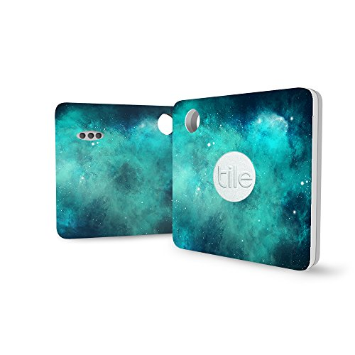 Logity Tile Mate Cover, Skin for Tile Mate, Tile Mate Bluetooth Tracker Sticker, Tile Tracker Accessories, Non-stick Residue Design, Galaxy(4Pack)
