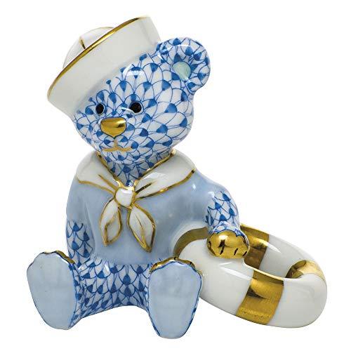 Herend Sailor Bear Porcelain Figurine Blue - Bear Blue Sailor