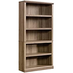 Sauder 420173 5-Shelf Bookcase 5, Salt Oak
