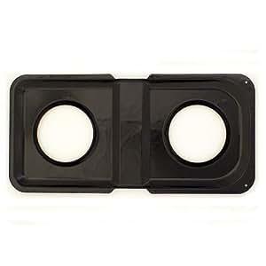 Range Kleen P501 Rectangular Gas Stove Drip Pan in Black