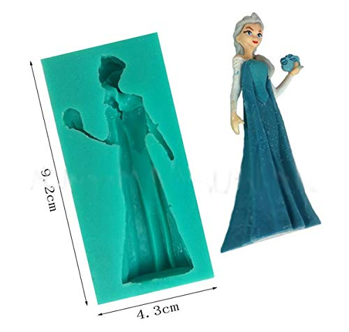 (DIY Silicone Mold Frozen Beautiful Girl Ice Fondant Cake Wedding Party Decorating Tools Kitchen Bakeware Cooking Tools)