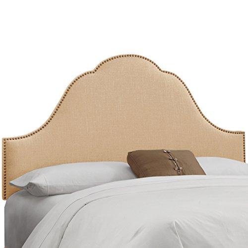 Skyline Furniture Arch Nail Button Headboard, Klein Ricepaper, Full