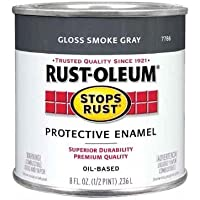 Rust-Oleum 7786730 1/2-Pint 8-Ounce Protective Enamel, Gloss Smoke Gray by Rust-Oleum