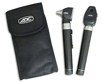 ADC 5110NS Diagnostix 2.5v Pocket Otoscope/Ophthalmoscope Set, Soft Case, Xenon, Black
