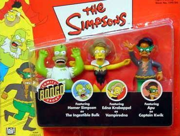 Vampiredna,/& Apu As Captain Quick Kaybee Exclusive Simpsons 3 Pack w// Homer As the Ingestible Bulk
