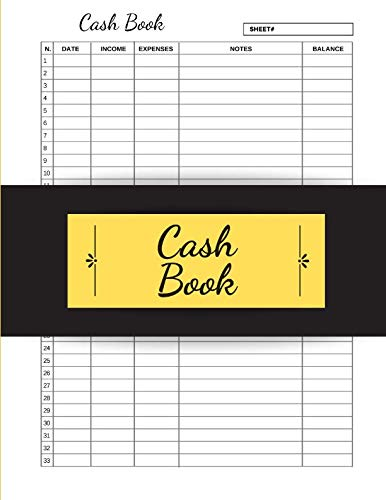 Cash Book: Cash Journal Entry Log Book Ledger Income Expense