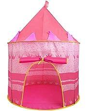 Jasonwell Casa de campaña con diseño de Castillo para niños niñas Tiendas de campaña Transpirable para Guardar Juguetes Uso Interior y Exterior