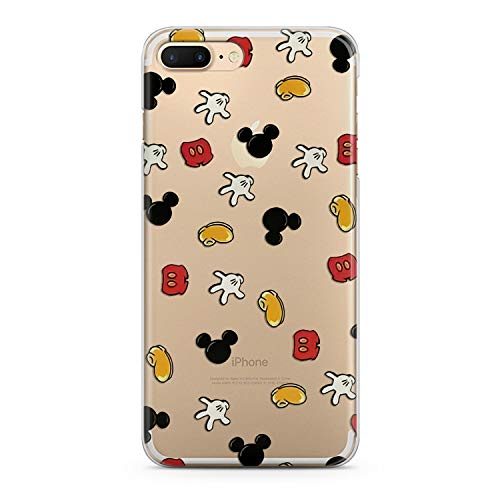 (Lex Altern TPU iPhones Cases X 8 Plus 7 6s 6 SE 5s 5 Mickey Mouse Cute Clear Pattern Apple Kids Phone Cover Silicone Xr Kawaii Protective Girlish Teen Boy Max Xs Durable Cartoon Transparent Women)