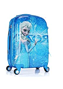 Kid's Travel Luggage suitcase Childred Trolley Case Cartoon Rolling Bag for School Kids Trolley Bag on wheels blue